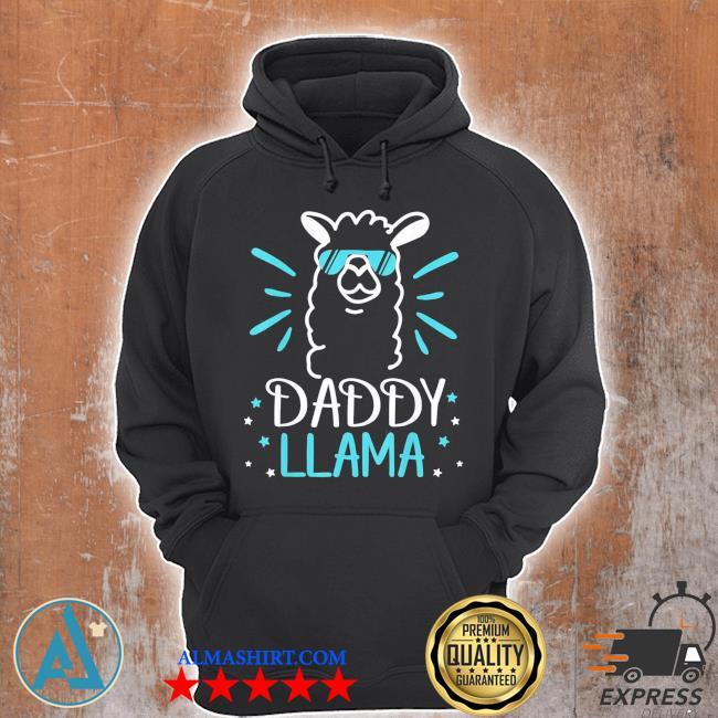 Cool glass llama daddy llama animals new 2021 s Unisex Hoodie