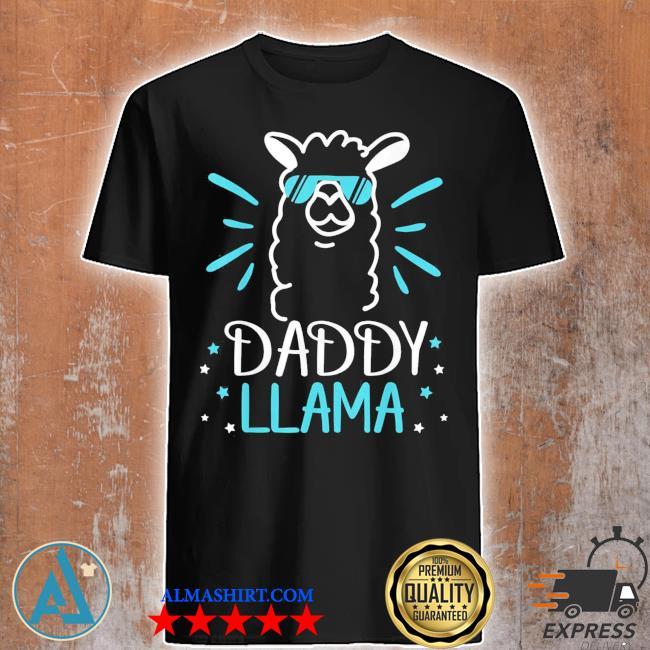Cool glass llama daddy llama animals new 2021 shirt
