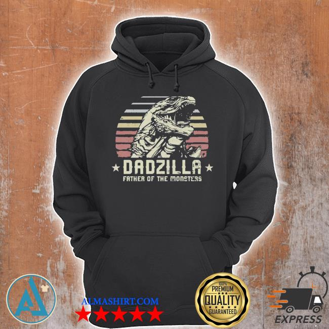 Dadzilla father of the monsters retro vintage happy fathers day 2021 s Unisex Hoodie