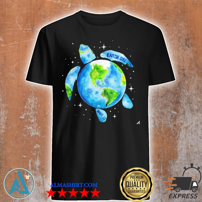 Earth day 2021 restore earth sea turtle art save the planet new 2021 shirt