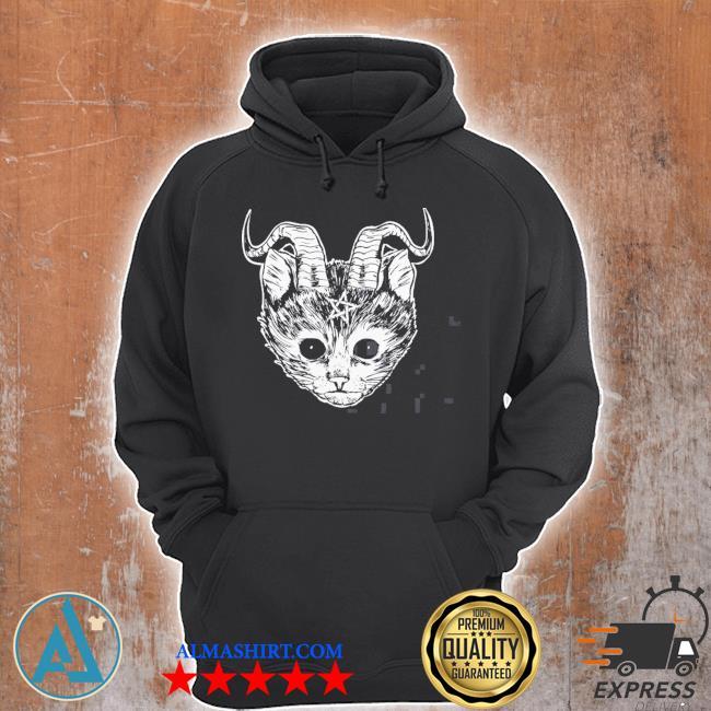 Hail Satan cat funny devil cat s Unisex Hoodie