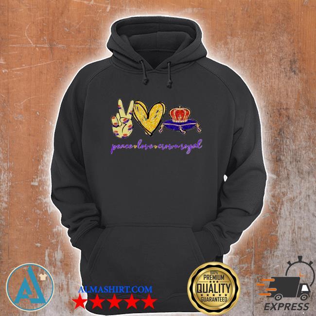 Peace love Crown Royal logo s Unisex Hoodie