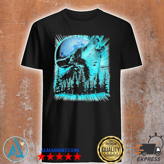 Psychedelic wolf howling at the moon for wolfs new 2021 shirt
