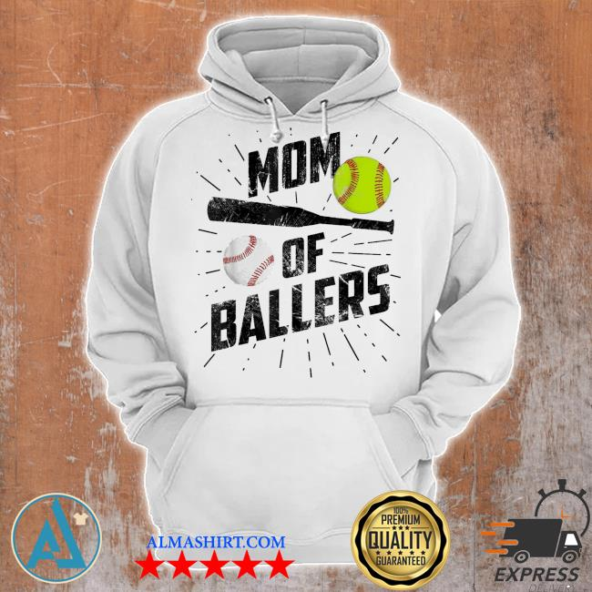 Mom of ballers funny baseball softball game mothers day us 2021 s Unisex Hoodie