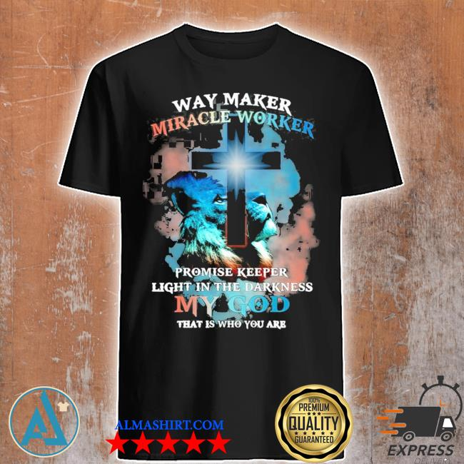 Way Maker miracle worker lion Jesus christ religious picture new 2021 shirt