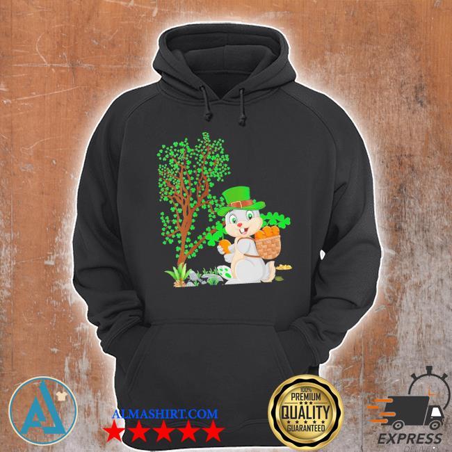 Womens bunny leprechaun hat bunny st. patrick's day new 2021 s Unisex Hoodie
