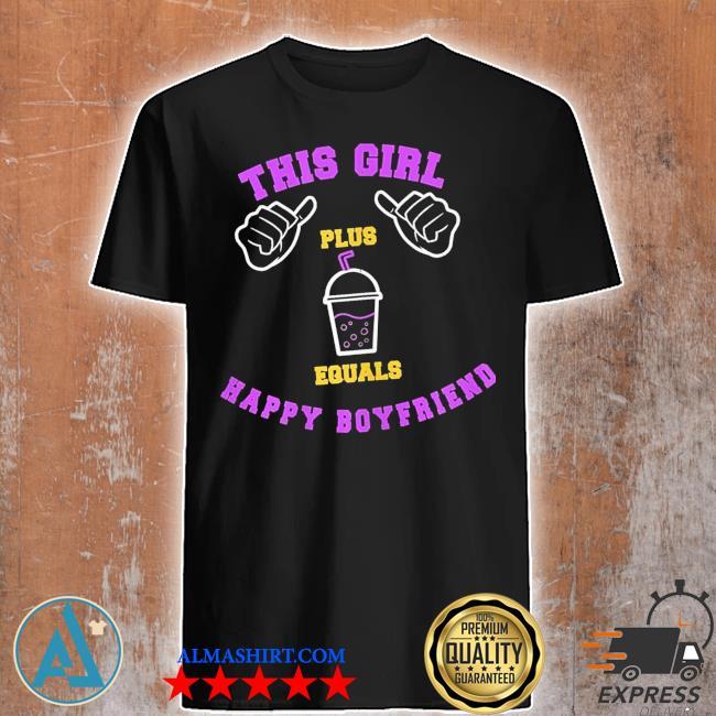 Womens this girl milkshake shake bubbletea boyfriend new 2021 shirt