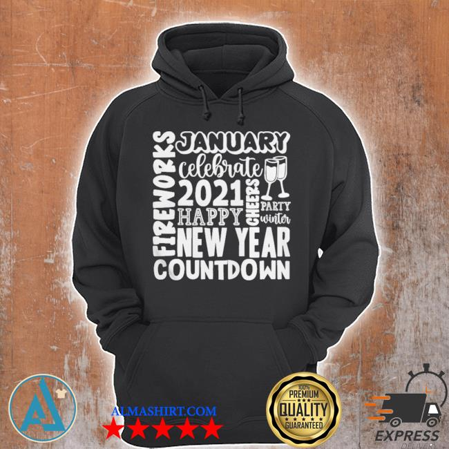 2021 happy new year cheers celebrate celebrate new year 2021 gifts s Unisex Hoodie