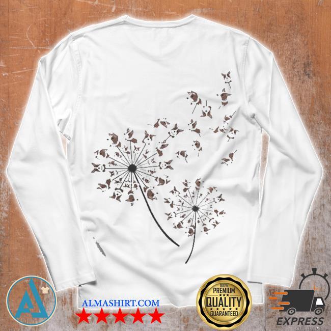 Awesome corgI dandelion flower s Unisex longsleeve