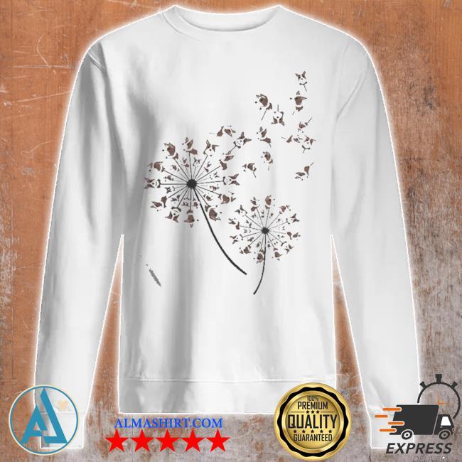 Awesome corgI dandelion flower s Unisex sweatshirt