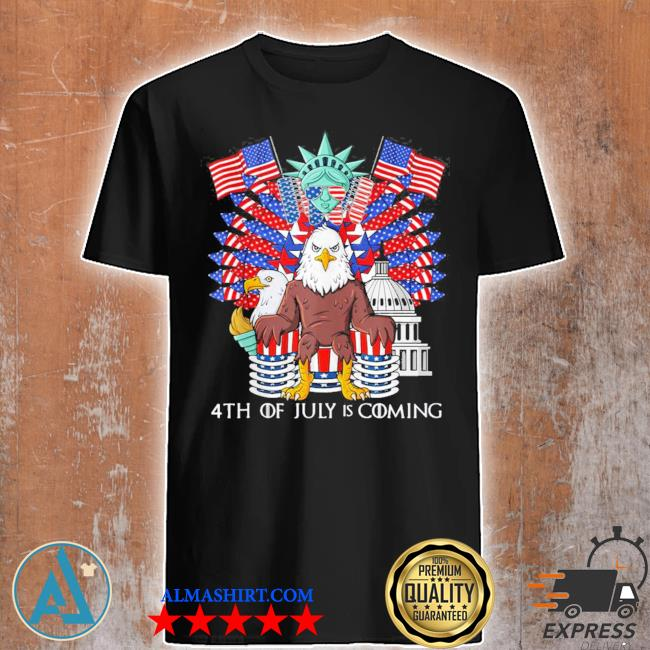 Bald eagle throne 4th of july usa patriotic new 2021 shirt