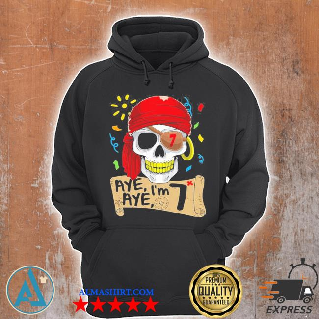 Cool pirate 7 years old birthday s Unisex Hoodie