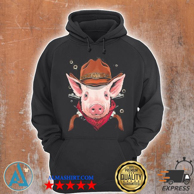 Cowboy pig western rodeo cowboy hat and bandana new 2021 s Unisex Hoodie