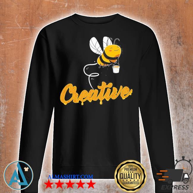 Creative bee smiling honey bee lover s Unisex sweatshirt