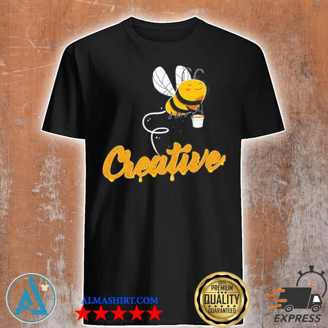 Creative bee smiling honey bee lover shirt