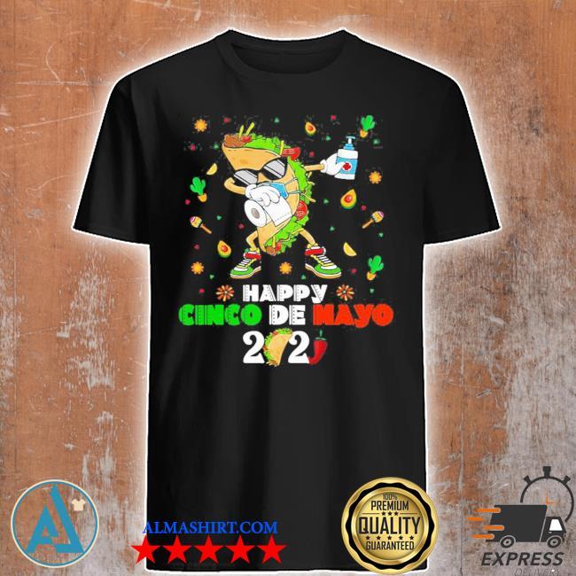 Dabbing Taco Cinco De Mayo 2021 Face Mask Quarantine shirt