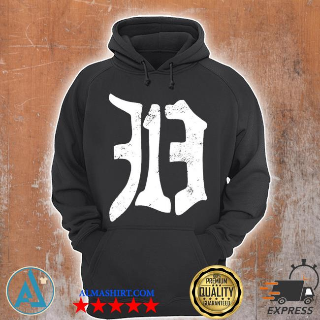 Detroit 313 vintage old english d area code new 2021 s Unisex Hoodie