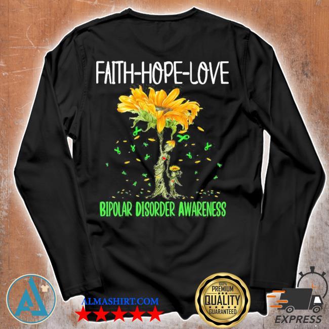 Faith hope love bipolar disorder awareness new 2021 s Unisex longsleeve
