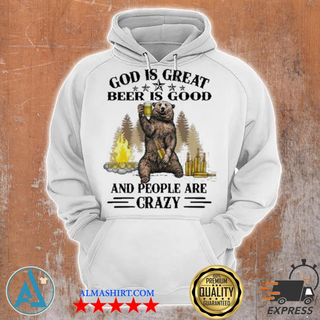 God is great bbq is good and people are crazy graphic funny camping s Unisex Hoodie