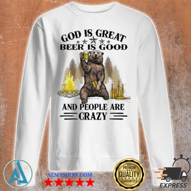 God is great bbq is good and people are crazy graphic funny camping s Unisex sweatshirt