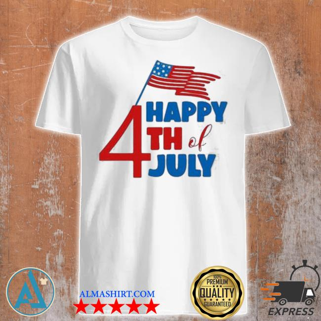 Happy 4th of july American flag shirt