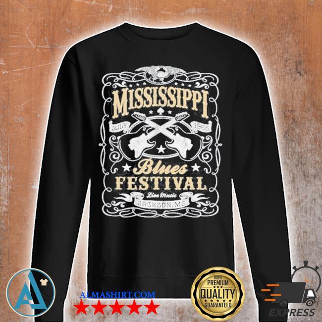 MississippI rock whiskey concert music festival guitar s Unisex sweatshirt