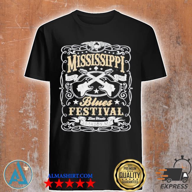 MississippI rock whiskey concert music festival guitar shirt