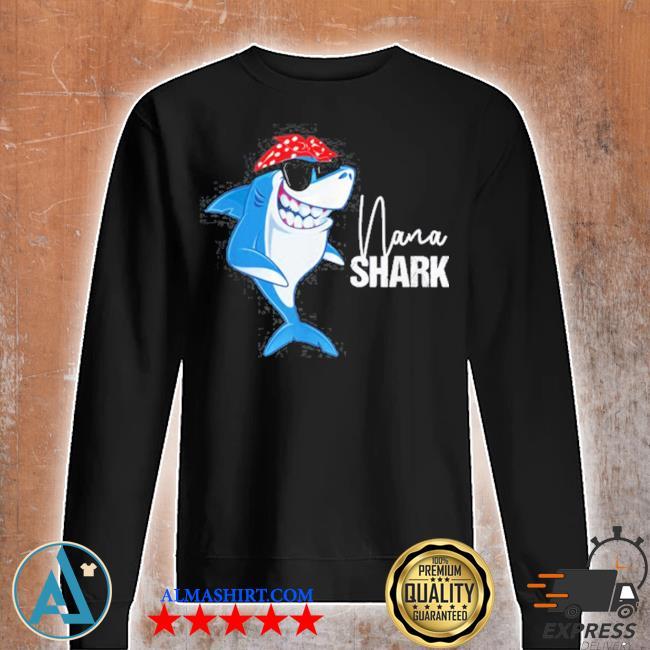 Nana shark wearing sunglasses bandana grandma s Unisex sweatshirt
