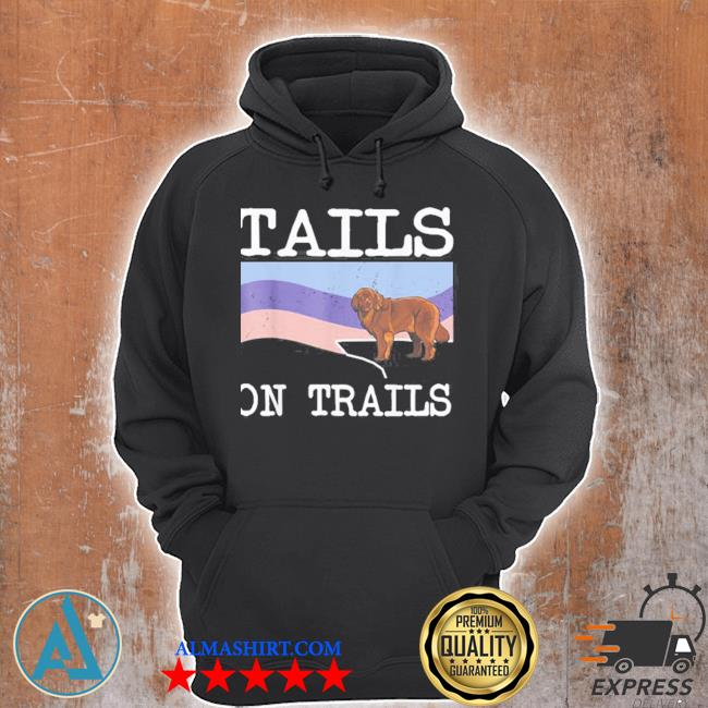Newfoundland tails on trails dog hiking s Unisex Hoodie