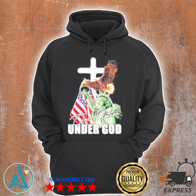 One nation under god eagle American flag the liberty s Unisex Hoodie