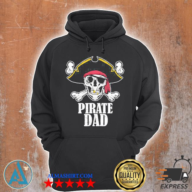 Pirate dad birthday jolly roger flag pirate costume limited s Unisex Hoodie