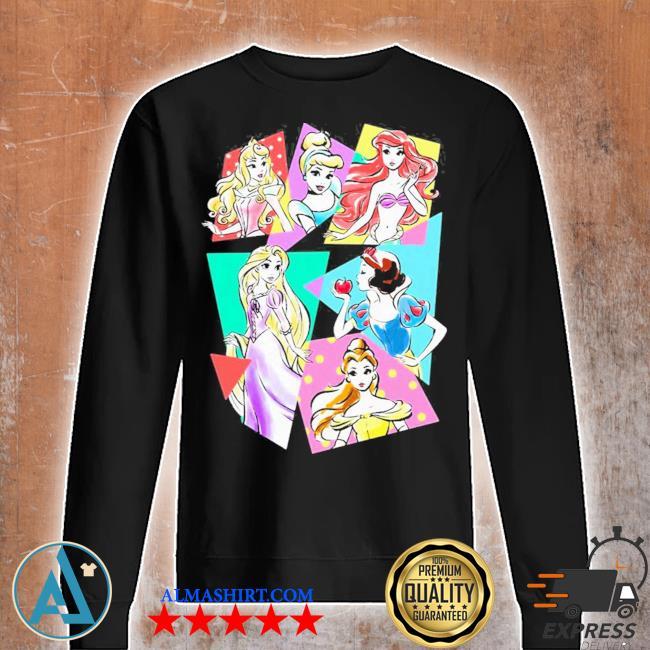 Princesses neon pop art sketch s Unisex sweatshirt