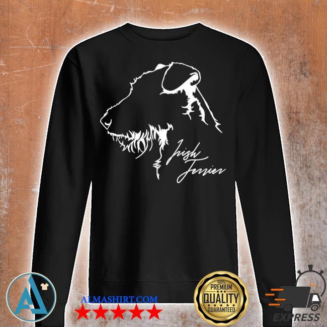 Proud irish Terrier dog breed profile dog lover new 2021 s Unisex sweatshirt