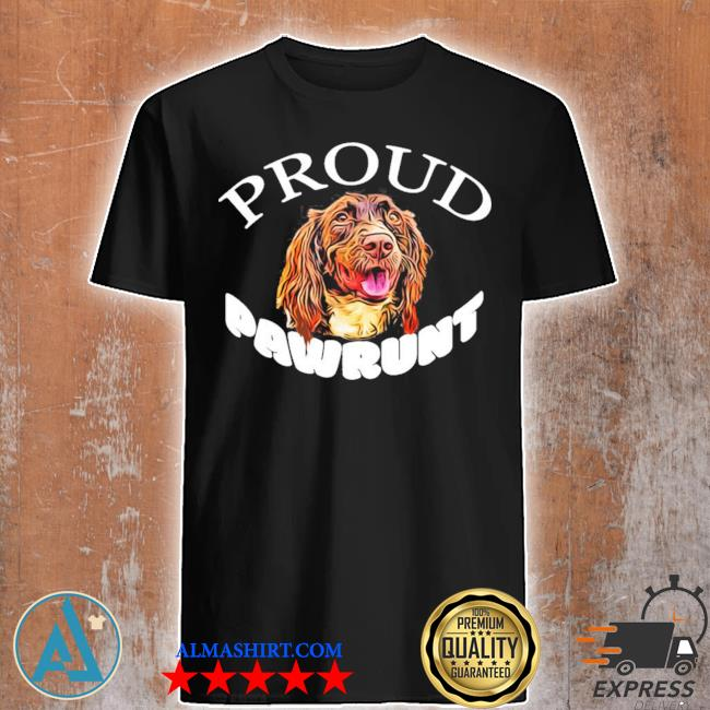 Proud pawrunt of a cute springer spaniel dog new 2021 shirt
