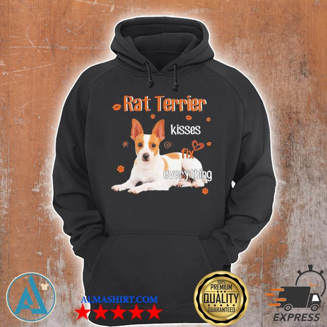 Rat Terrier kisses fix everything s Unisex Hoodie