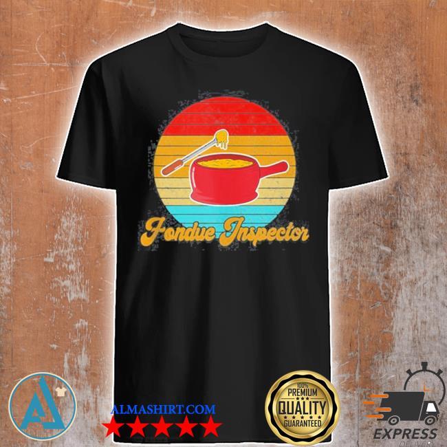 Retro fondue inspector shirt