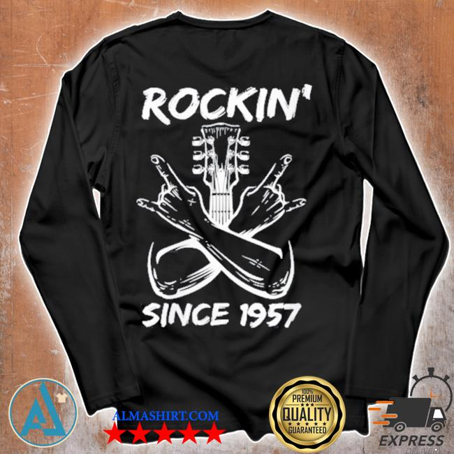 Rockin' since 1957 64th birthday guitar 64 years old s Unisex longsleeve