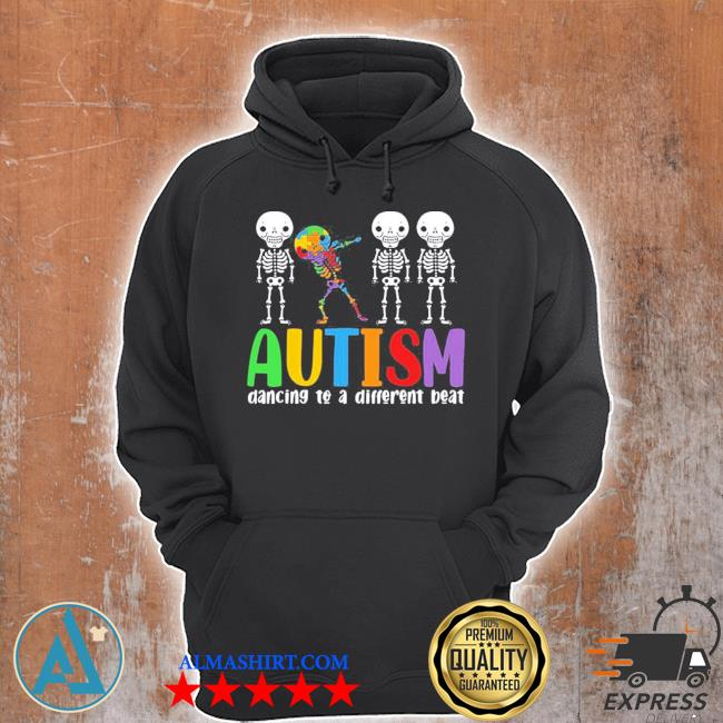 Skeleton dancing to a different beat autism awareness hot s Unisex Hoodie
