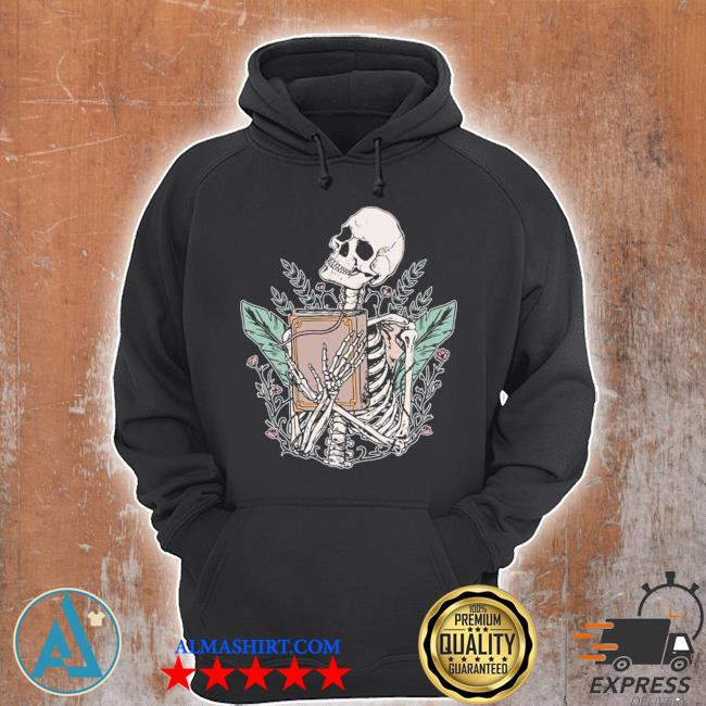 Skeleton spell book witchcraft gothic occult wicca goth girl new 2021 s Unisex Hoodie
