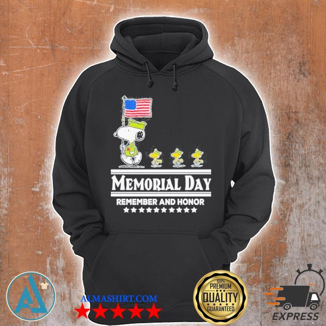 Snoopy and Woodstock abbey road memorial day remember and honor s Unisex Hoodie