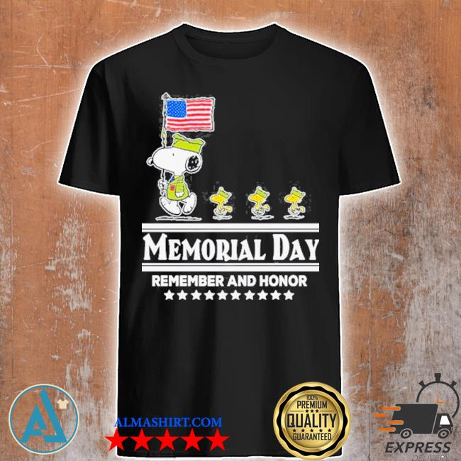 Snoopy and Woodstock abbey road memorial day remember and honor shirt