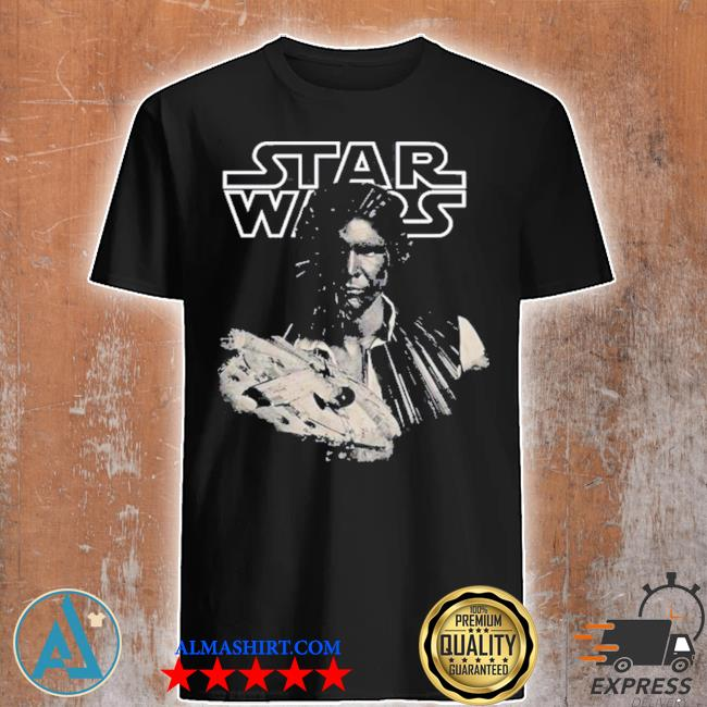 Star wars han solo millennium falcon portrait shirt