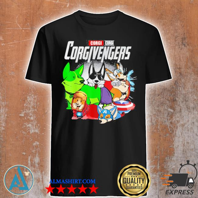Super dogs corgi avengers assemble for kids and dogs lover new 2021 shirt