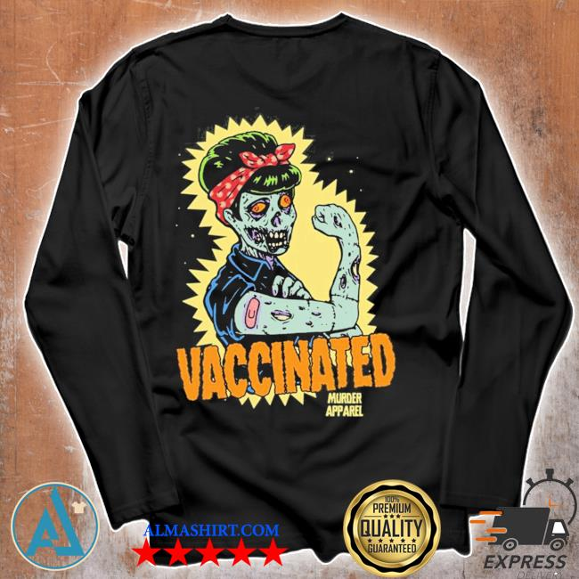 Vaccinated zombie rosie girl power feminist goth retro hot s Unisex longsleeve