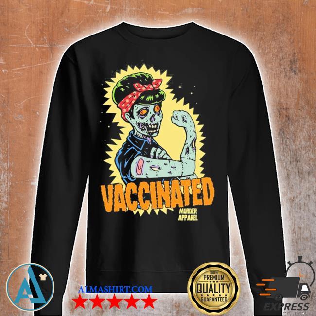 Vaccinated zombie rosie girl power feminist goth retro hot s Unisex sweatshirt