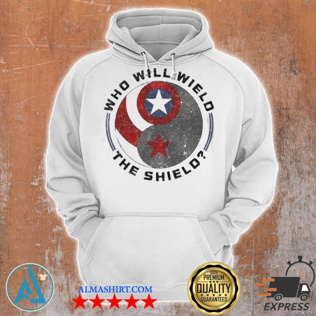 Who will wield the shield captain America logo s Unisex Hoodie