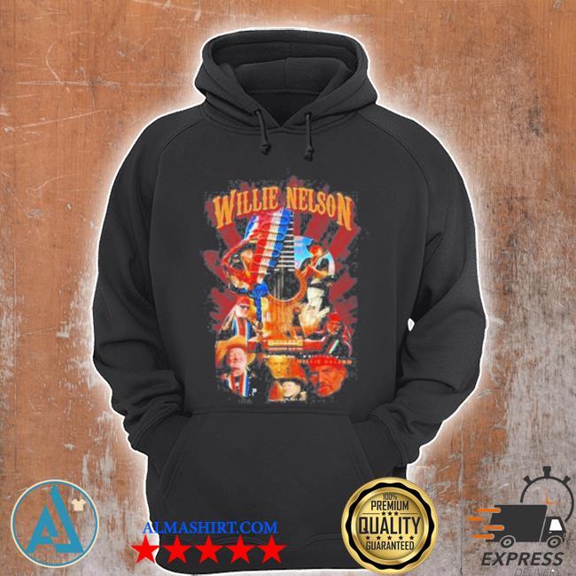 Willie nelson guitar American flag s Unisex Hoodie
