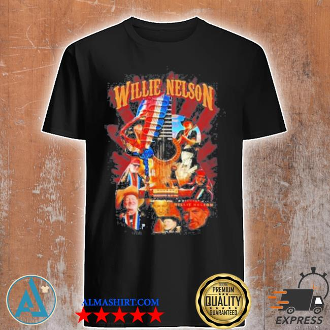 Willie nelson guitar American flag shirt