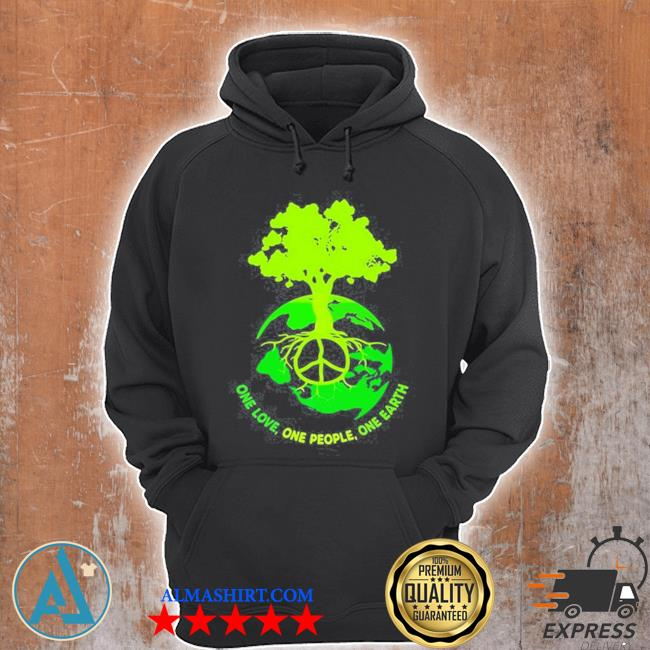 World map one love one people one earth s Unisex Hoodie