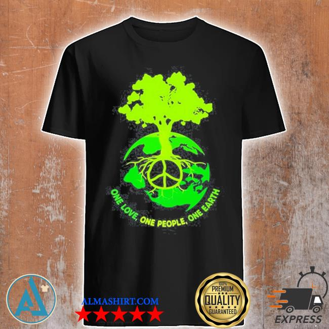 World map one love one people one earth shirt